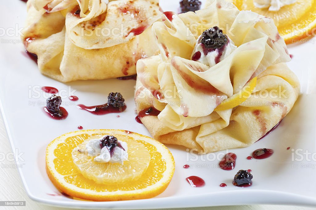 Crepes (pancakes) royalty-free stock photo