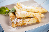 Crepes with cream