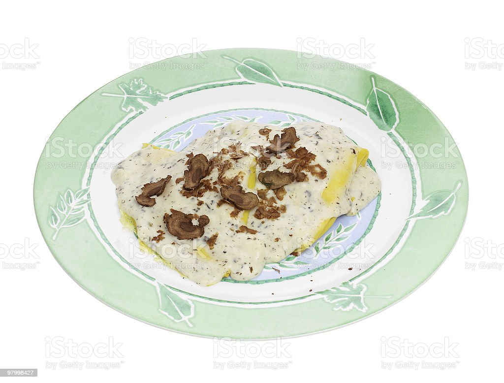 Crepes with truffle royalty-free stock photo