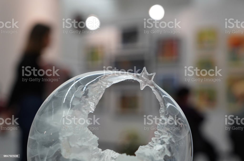 Crescent and star made of glass royalty-free stock photo