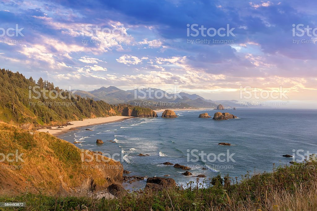 Crescent Beach at Oregon Coast stock photo
