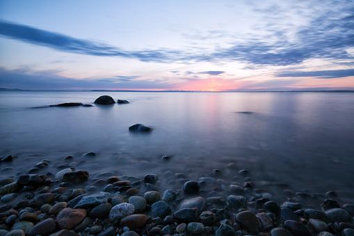 Crescent Beach at sunset, Surrey, BC, Canada
