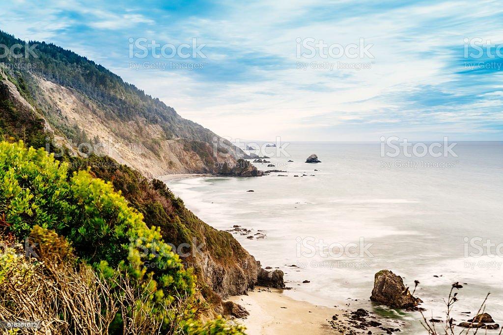 Crescent Beach overlook, California USA stock photo