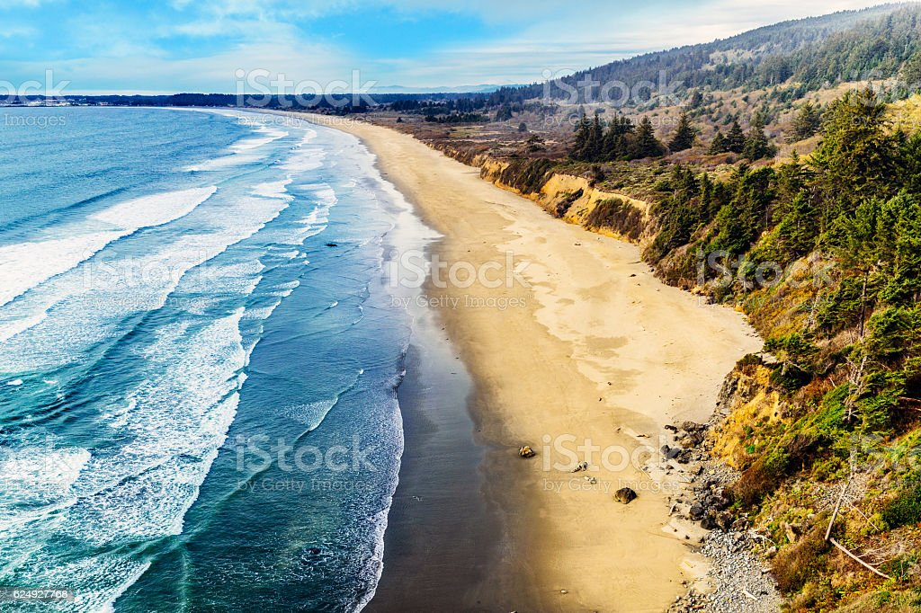 Crescent Beach overlook, California USA stock photo