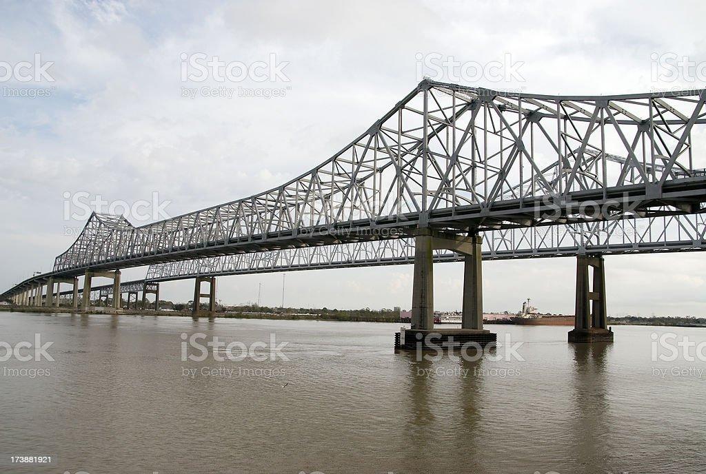 Crescent City Bridge #1 royalty-free stock photo