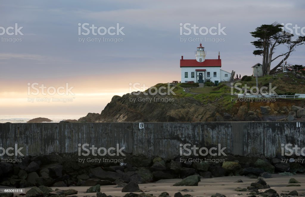 Crescent City California Pacific Coast Battery Point Lighthouse foto de stock royalty-free