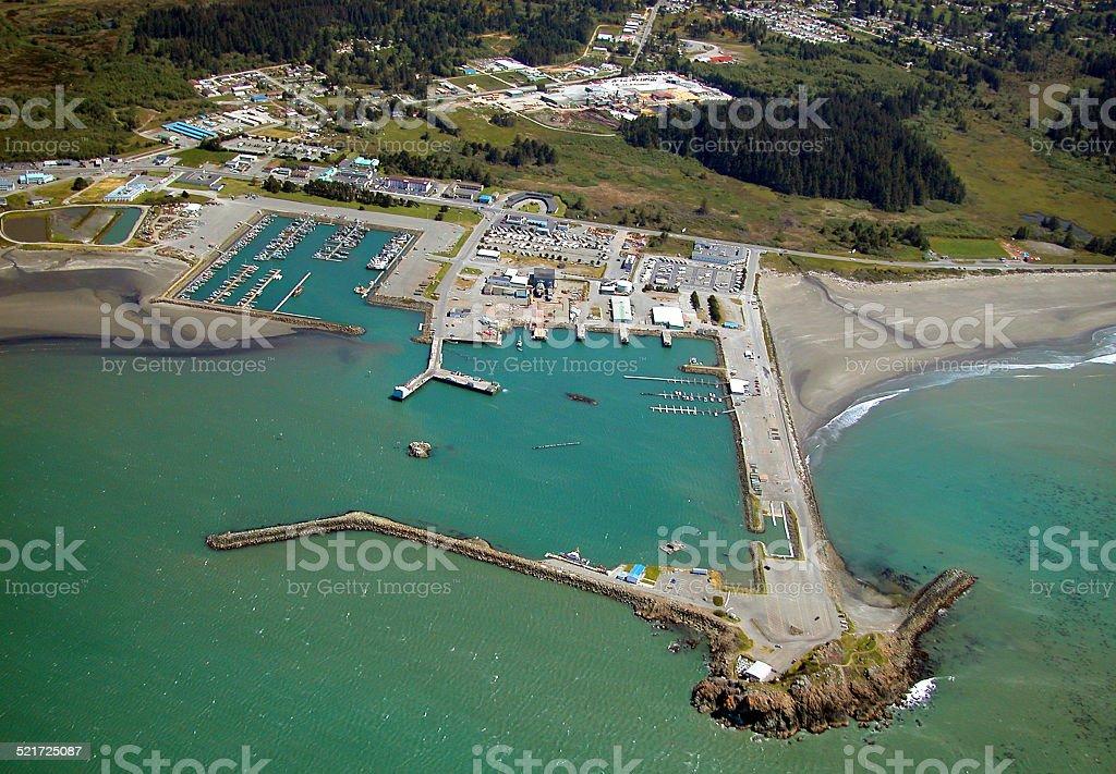 Crescent City Harbor stock photo