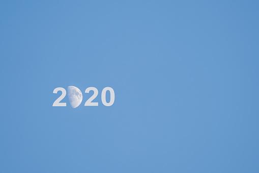 Crescent new moon writing 2020