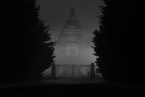 Crespi Dadda Cemetery By Night 32 — стоковые фотографии и другие картинки UNESCO
