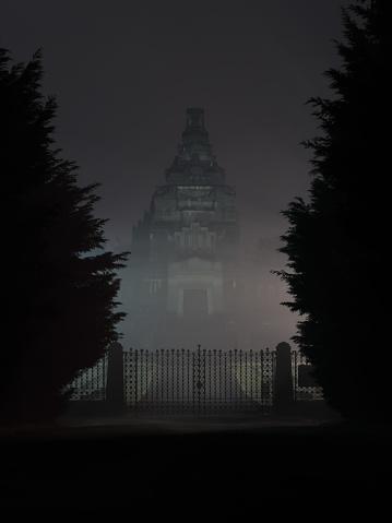 Crespi Dadda Cemetery By Night 34 - Fotografie stock e altre immagini di Ambientazione esterna