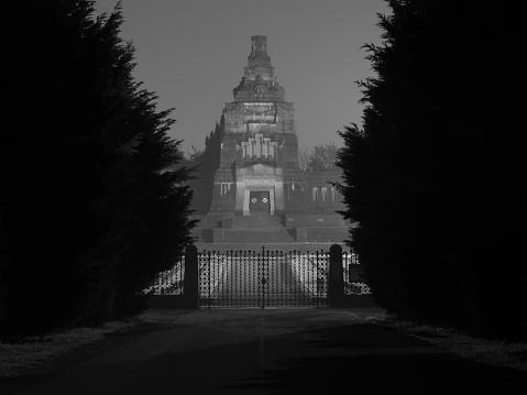 Crespi Dadda Cemetery By Night 43 — стоковые фотографии и другие картинки UNESCO