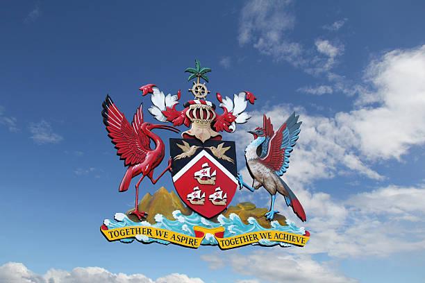 Crest of Trinidad and Tobago stock photo