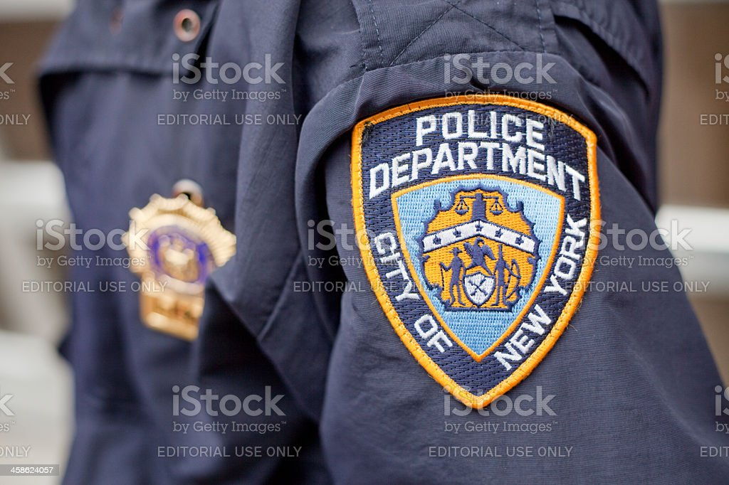 NYPD Crest stock photo