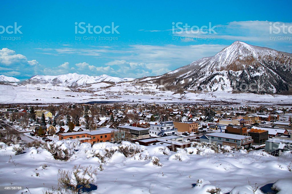 Crested Butte Panorama stock photo