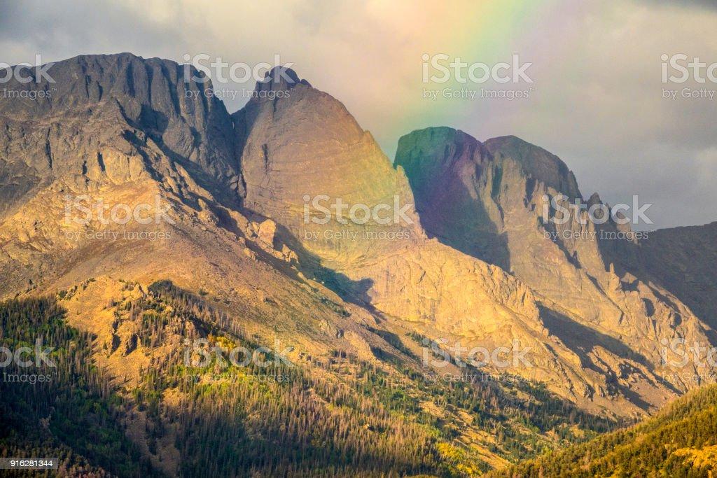 Crestone Peak spectrum stock photo