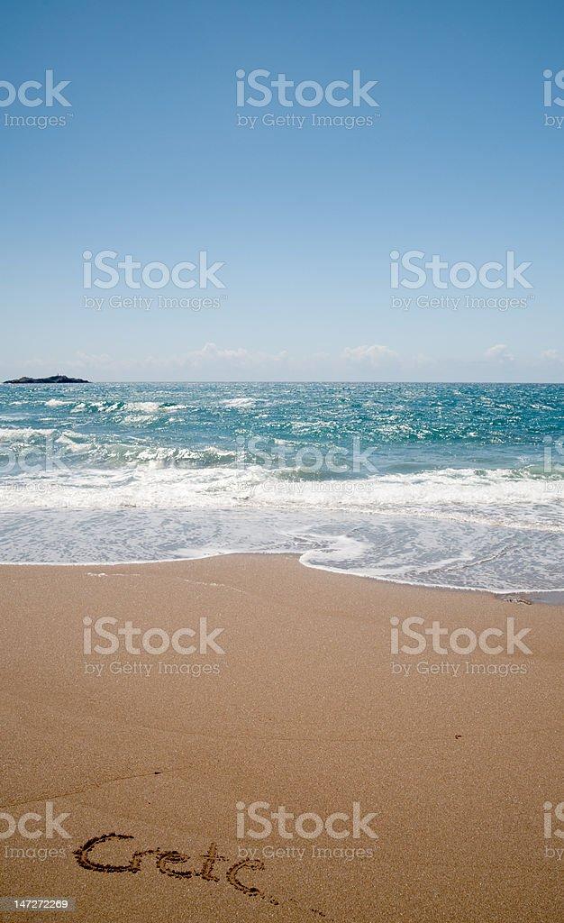 Cretan beach in spring time stock photo