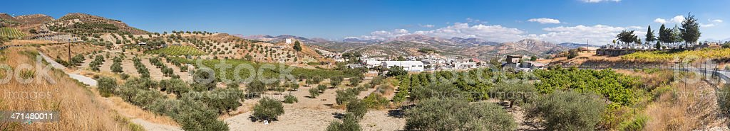 Cretan landscape panorama stock photo