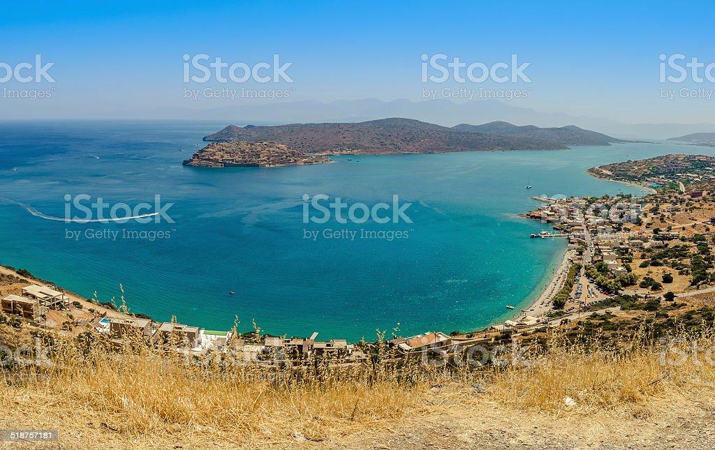Cretan Landscape Plaka bay stock photo