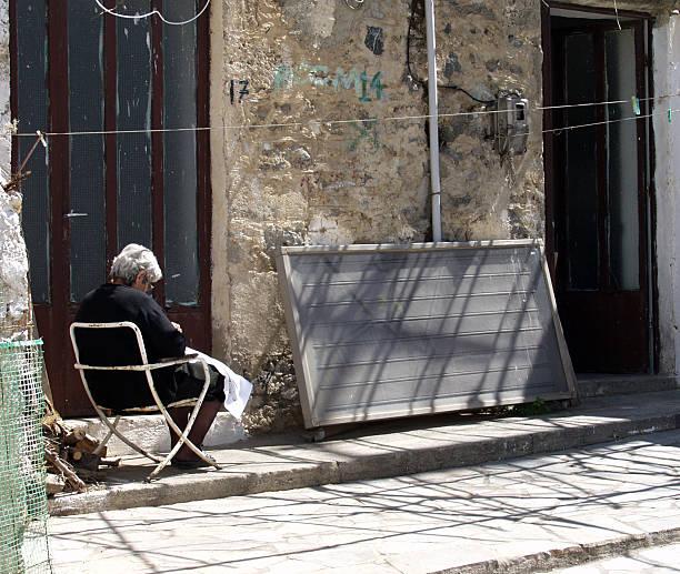 Cretan Scenery; Mirthios. stock photo