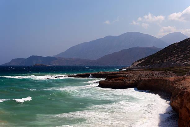 Crete by the Libyan sea stock photo