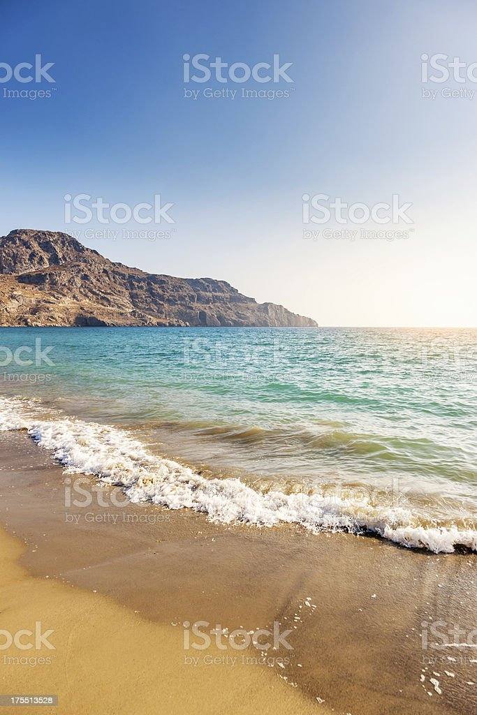Crete Greece Mediterranean Beach Sunset royalty-free stock photo
