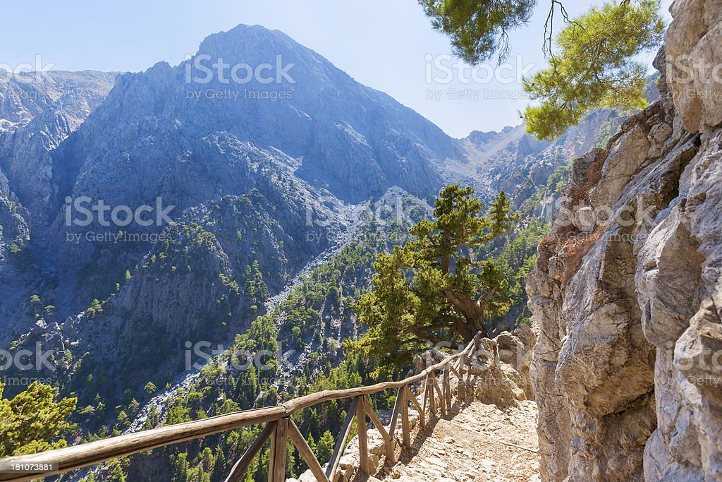 Crete - Samaria stock photo