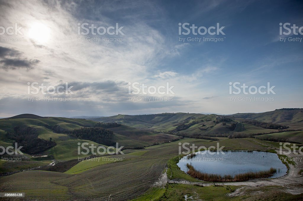 Crete Senesi stock photo