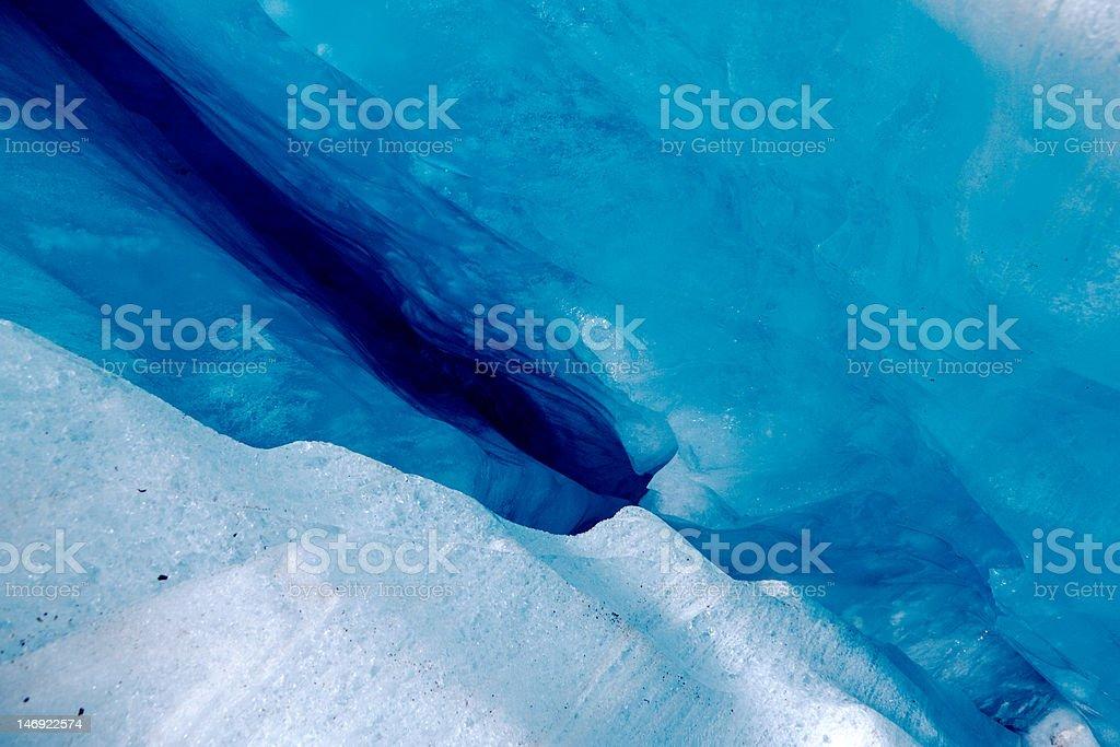 Crevasse in Franz Joseph Glacier royalty-free stock photo