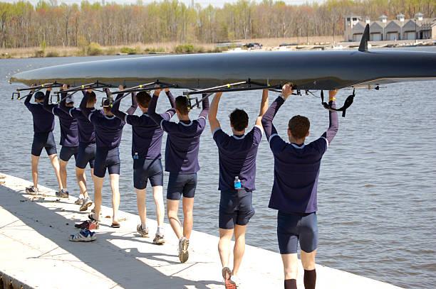 Crew Prepares stock photo