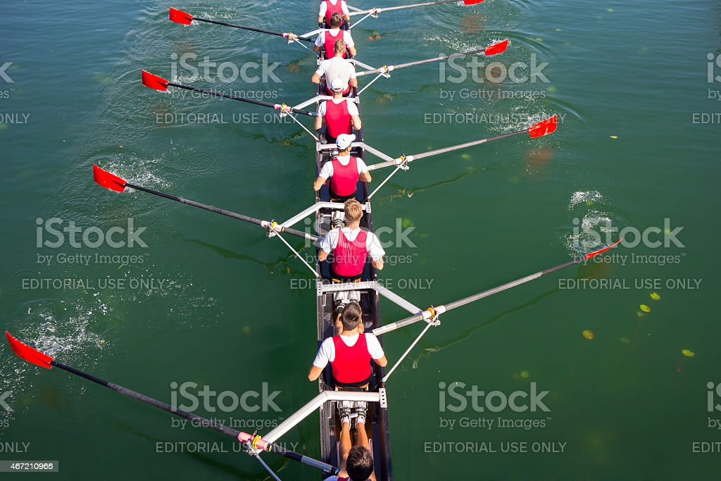 Crew Team in Competition stock photo