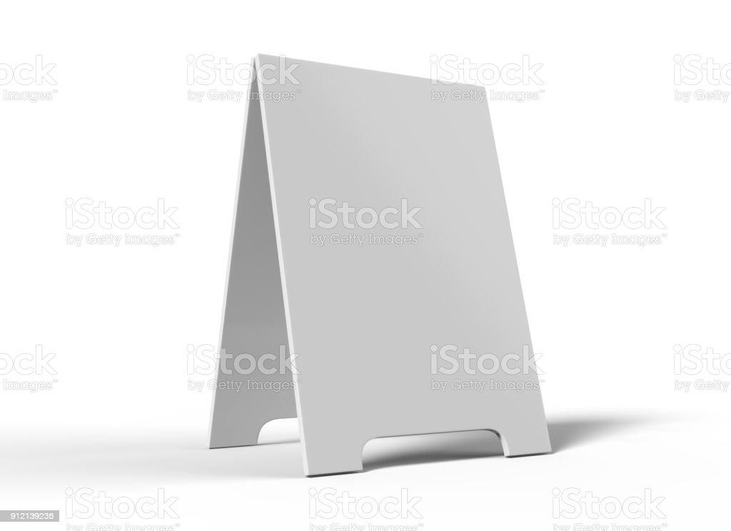Crezon a-Frame-Sandwichplatten für Design mock-up und Presantation. weiße 3D-Render leere Abbildung. – Foto