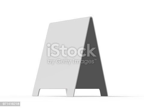 628470570 istock photo Crezon A-frame sandwich boards for design mock up and presentation 971416218