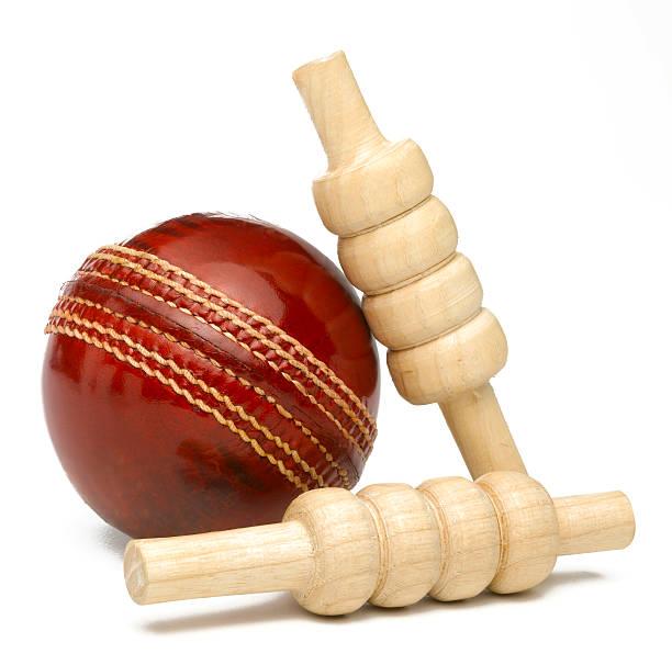 Cricket ball und bales – Foto