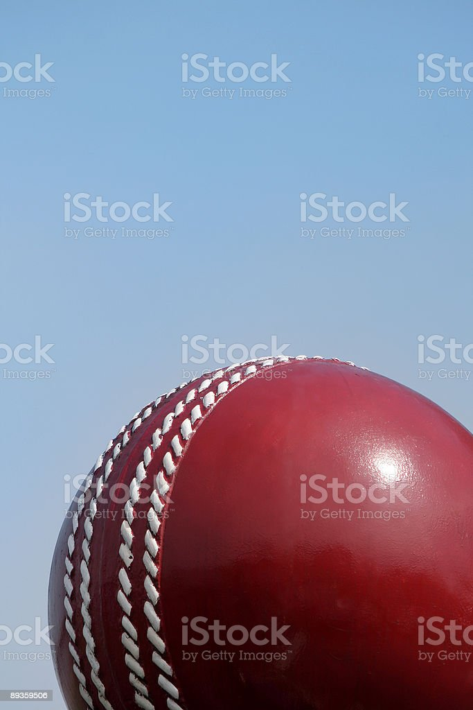 Cricket ball and sky royalty free stockfoto