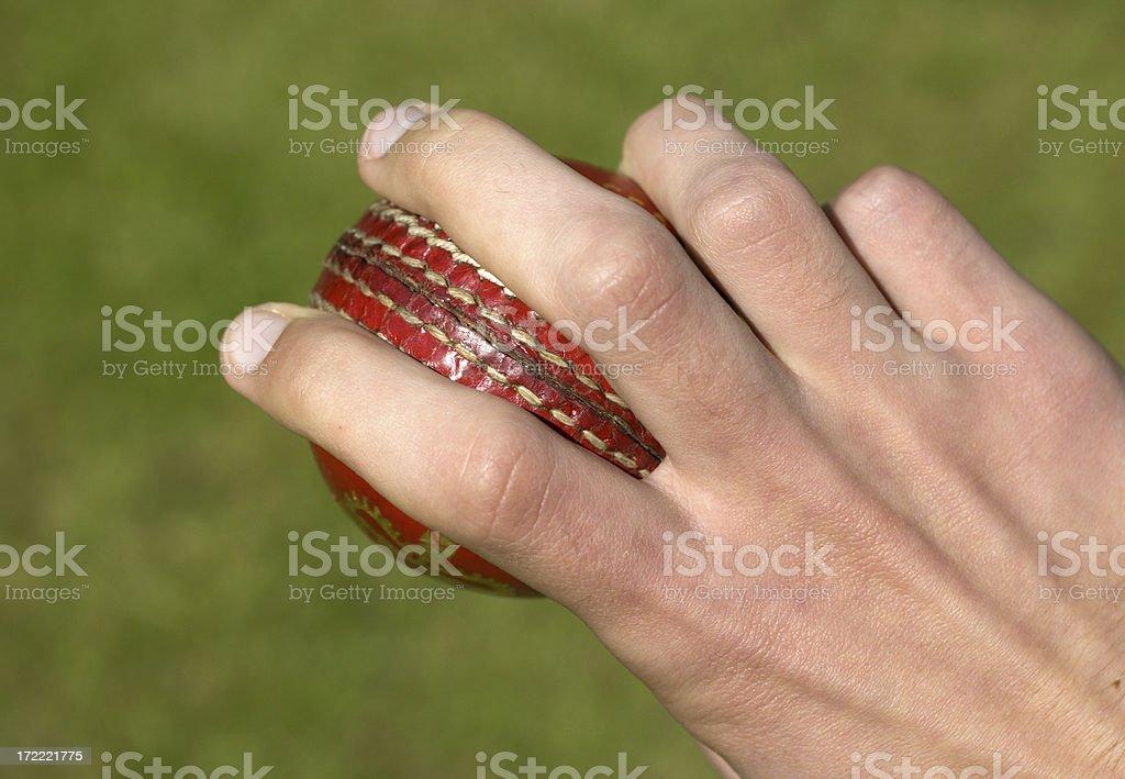 Cricket ball bowling royalty-free stock photo