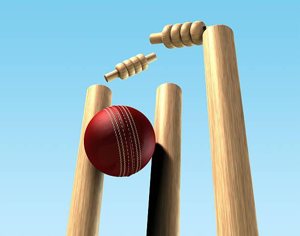 Bola de críquet Wickets VA - foto de stock