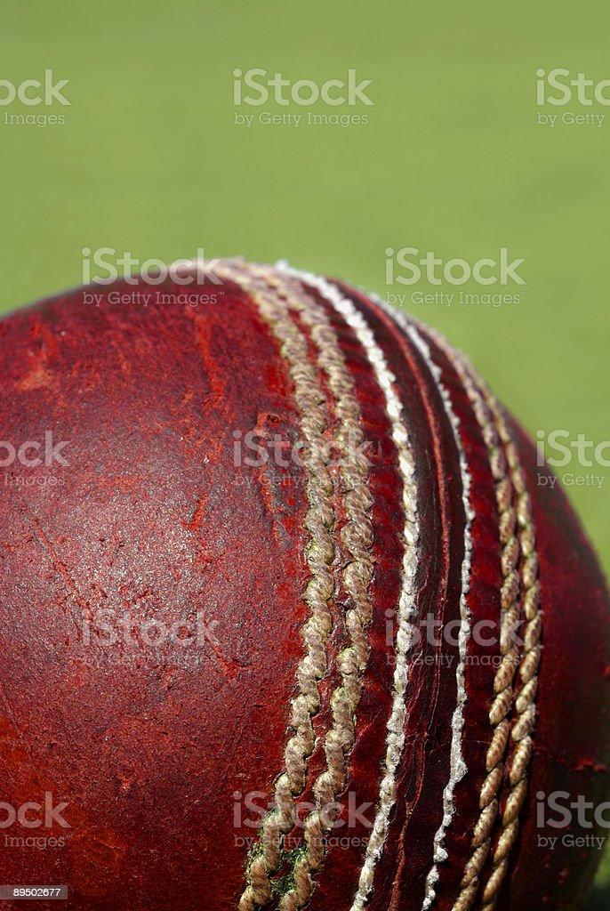 Cricket Ball Seam stock photo