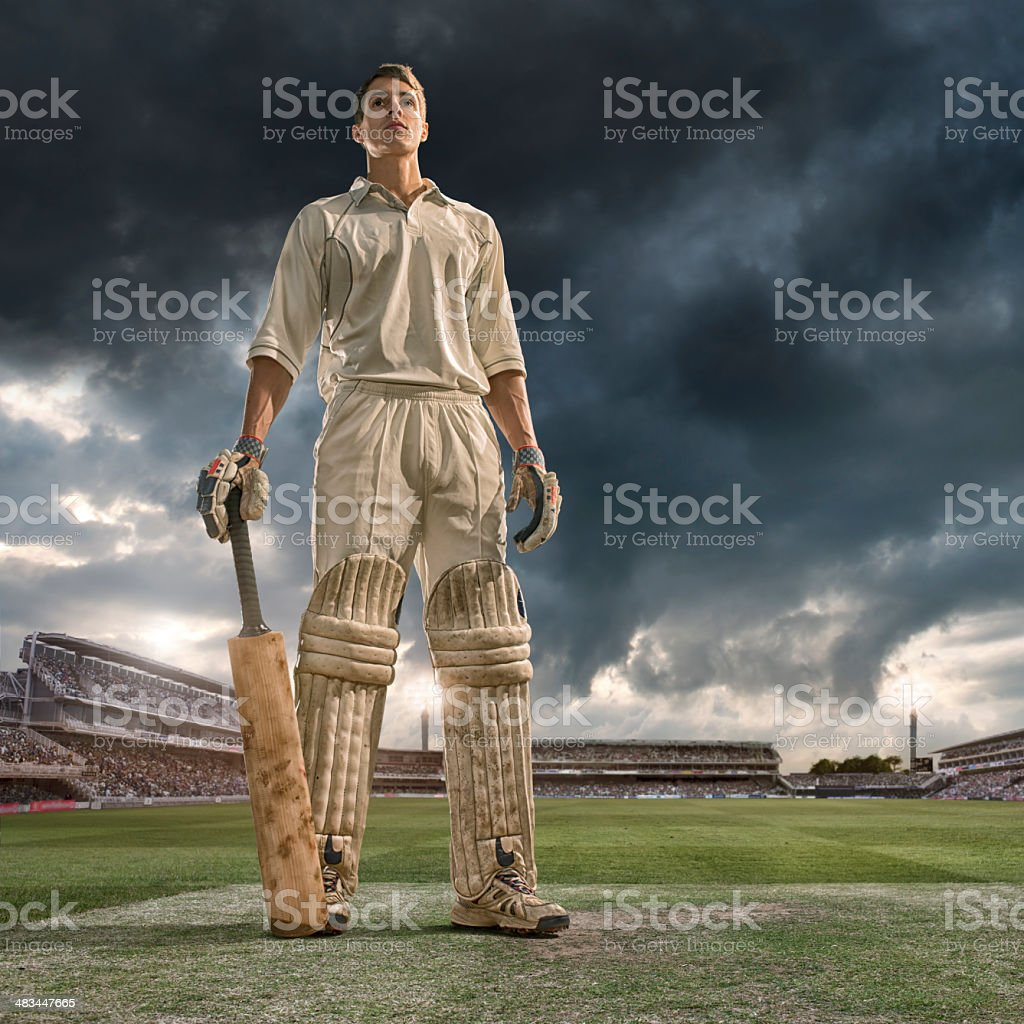 Cricket Batsman Hero stock photo