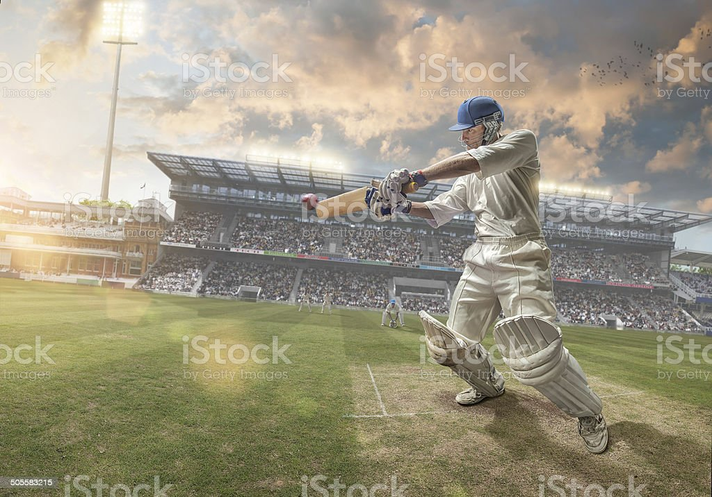 Cricket Batsman stock photo