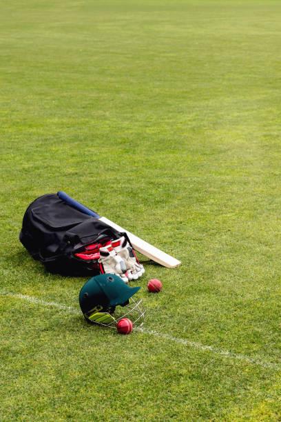 Cricket Equipment stock photo