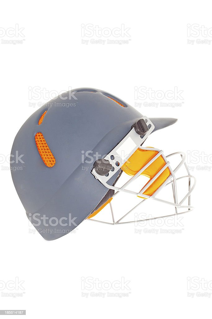 Cricket Helmet With Protective Face Guard royalty-free stock photo
