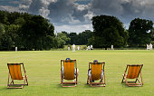 cricket in on an English village green