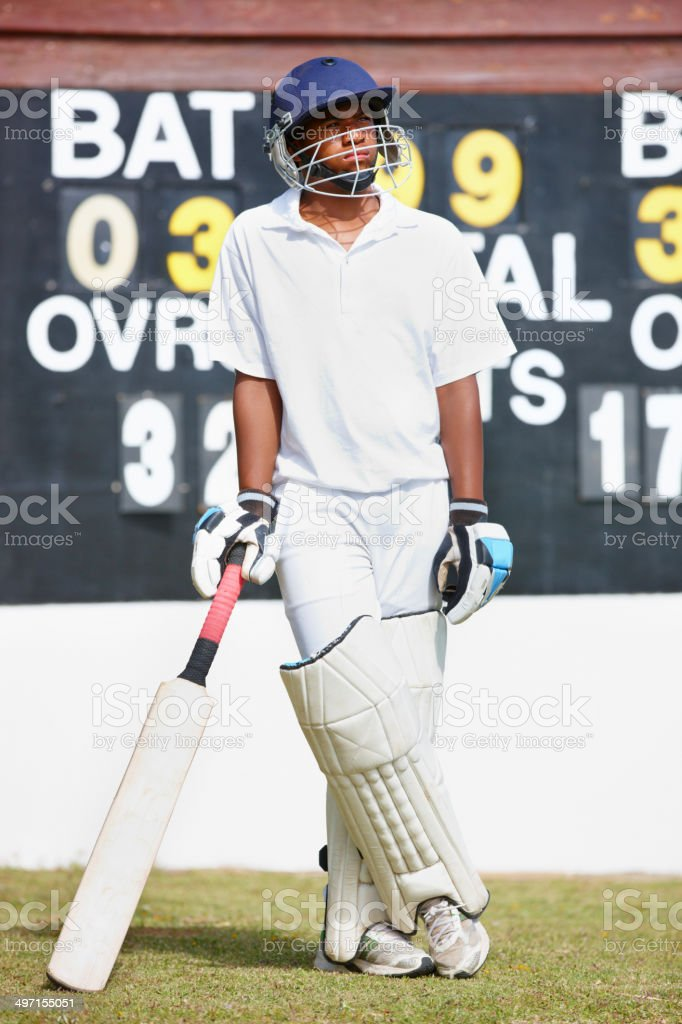 Cricket is his game stock photo