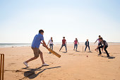 istock Cricket On The Beach 465521529