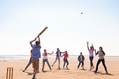 istock Cricket On The Beach 465521541