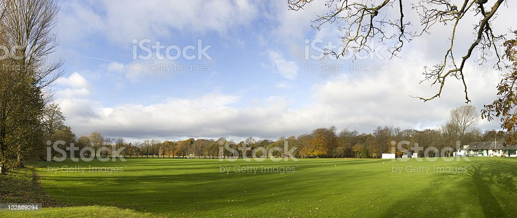 Cricket Pitch, Out Of Season royalty-free stock photo