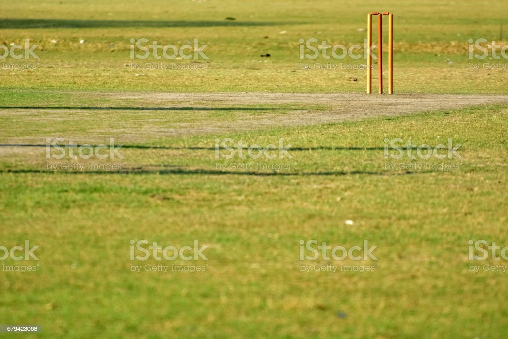 cricket pitch royalty-free stock photo