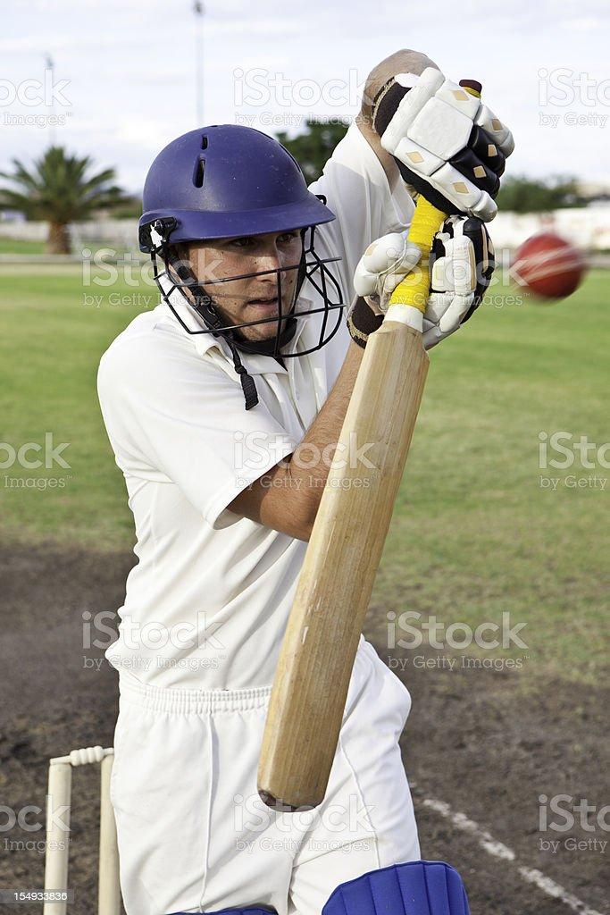 Cricket player stock photo