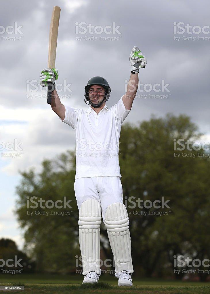Cricket Player royalty-free stock photo