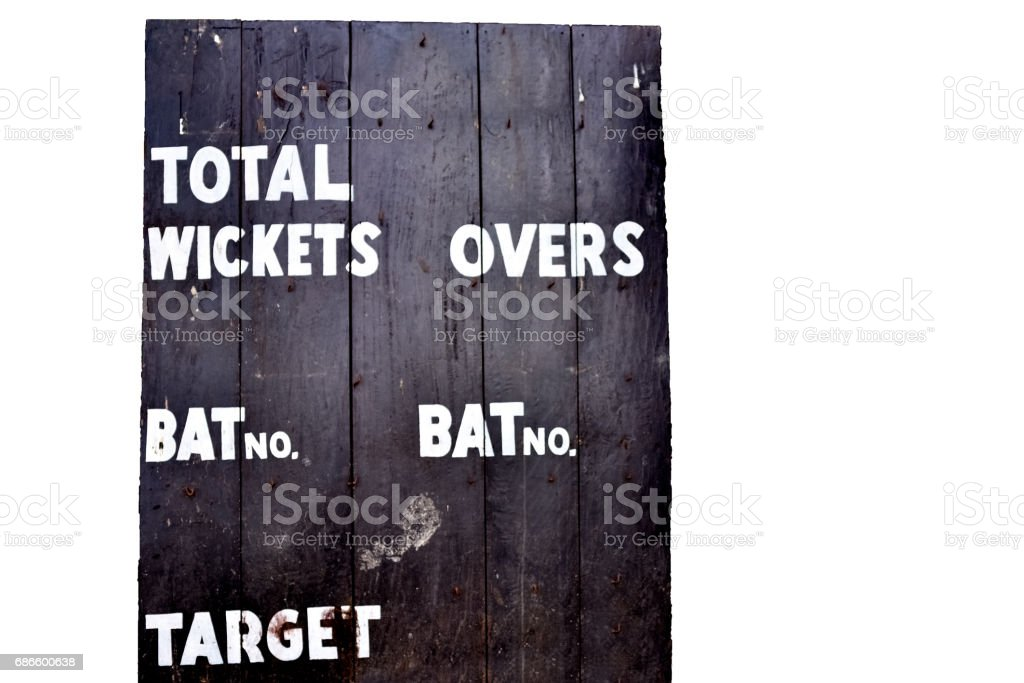 Cricket scoreboard royalty-free stock photo